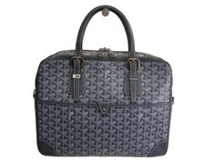 #GOYARD Ambassade Briefcase Canvas/Leather Grey (BF090502). #eLADY global accepts returns within 14 days, no matter what the reason! For more pre-owned luxury brand items, visit http://global.elady.com