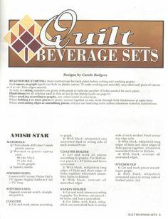 QUILT BEVERAGE SETS PG 3