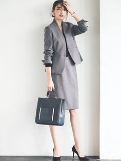 Office Outfits Women, Summer Work Outfits, Business Casual Outfits, Business Attire, Business Fashion, Office Fashion, Work Fashion, Japanese Fashion, Korean Fashion