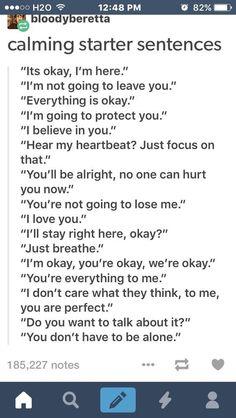 Calming text