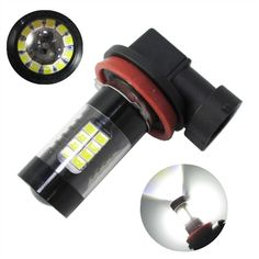 Free Shipping NEW 2*H8 32 3014 SMD + 11  SMD 2835 900lm 43led decoding fog light bulbs with led lens H8 DRL Fog Lamp 6000k 12V