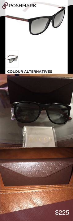 Gucci Black Sunglasses Gucci Havana Green Red/Brown Blue. This item comes complete with Gucci case and cloth. Great unisex frame. Price firm. Not eligible for a bundle. Gucci Accessories Glasses