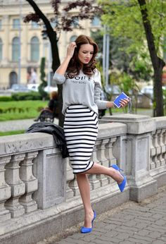 Street Style Zara White Black Skirts Look Main Single