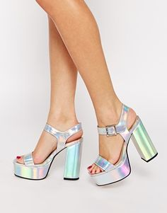 I want them! I am obsessed with holographic shoes and clothes.