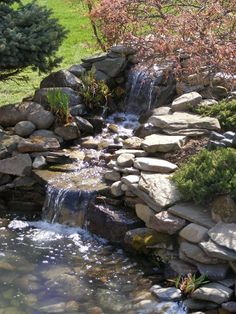 Examine this vital graphic in order to browse through the here and now tips on Riverbed Landscaping Backyard Stream, Backyard Water Feature, Ponds Backyard, Garden Pool, Water Garden, Pond Landscaping, Landscaping With Rocks, Fish Pond Gardens, Garden Waterfall