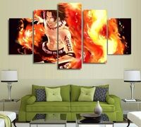 5 Panel Cartoon Anime One Piece Fire Fist Ace Modern Home Wall Decor Canvas Picture Art HD Print Painting On Canvas Artworks Canvas Poster, Canvas Artwork, Canvas Paintings, Cheap Paintings, Modern Paintings, Naruto Painting, 5 Panel Wall Art, Floral Drawing, Canvas Pictures