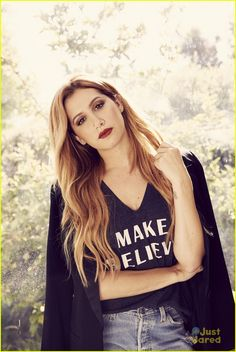 Ashley Tisdale models the new collection of Signorelli tees in these amazing shots from the new lookbook.