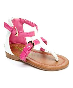 Another great find on White & Fuchsia Buckle Contrast Gladiator Sandal by Petalia Kids Formal Wear, Gladiator Sandals, Kids Outfits, Contrast, Children, How To Wear, Shoes, Fashion, Young Children