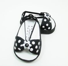 American Girls 18 doll shoes sandals black and by MegOrisDolls, $9.00