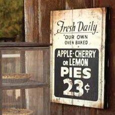 Huge Fresh Pie Sign $45.00 Antique farmhouse