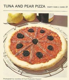 Tuna and Pear Pizza is listed (or ranked) 2 on the list 20 Completely Disgusting Recipes from Vintage Cookbooks