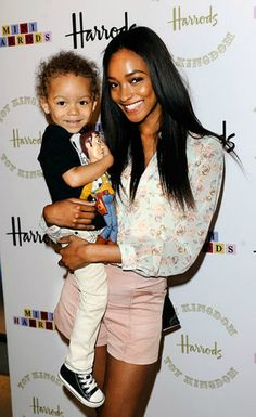 Jourdan Dunn & Son Riley Attend Toy Kingdom Harrods Launch | The Front Row View