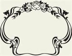 Art Nuveau Picture Frame Clip Art - - Yahoo Image Search Results