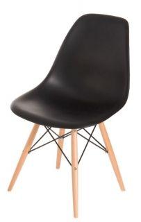 Dizajnová stolička PC016W PP inšp. DSW chair / čierna