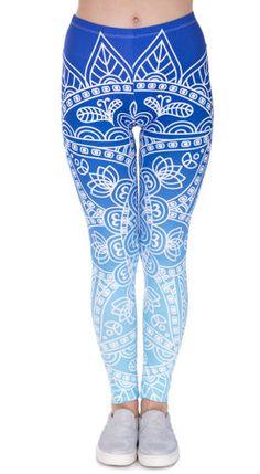 mandala legging blauw