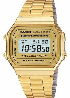 Casio Classic Timepiece Watch - Gold Unisex classic styled Casio watch