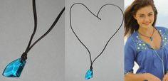 H2O: Just Add Water H20 swarovski aquamarine crystal Cleo's Necklace #Swarovski