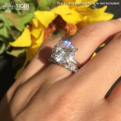 7 Carat Low Profile Solitaire Engagement Ring 4 by TigerGemstones