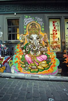 Photo of the Day – Shree Ganesh Graffiti – Melbourne, Australia Arte Ganesha, Lord Ganesha, Ganesha Tattoo, Graffiti Art, Hipster Design, Land Art, Ganesh Design, Indie, Urbane Kunst
