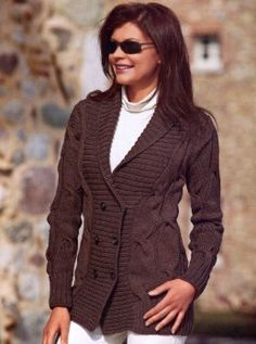 Chaquetas de punto y ganchillo para mujeres, más de 300 modelos Cardigan Pattern, Knit Cardigan, Knit Dress, Dress Skirt, Brown Cardigan, Winter Knitting Patterns, Free Knitting, Cape Scarf, Quick Knits