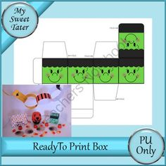 Frankie Treat Box from My Sweet Tater on TeachersNotebook.com -  (1 page)  - halloween treat box