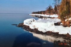 Snow and Lake Superior #MSPdestination