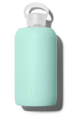 bkr 1L Glass Water Bottle Color: Sunday-Opaque light minty robin egg blue