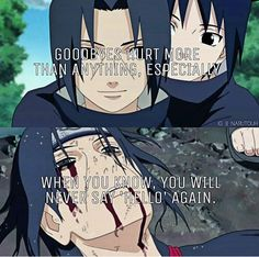 Anime/Manga Quote: Itachi and Sasuke Uchiha