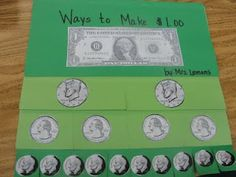 Teaching Money ideas -- GREAT for a math center.  I would have all of the coins cut out first which will greatly reduce the time that students are doing an activity, this would probably need to be teacher/para/parent led.