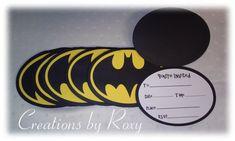Invitaciones de Batman juego de 12 por CreationsbyRoxy en Etsy