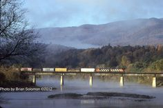 Central Vermont freight train at Windsor, Vermont ~ Photo by...Brian Solomon©