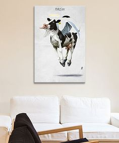 Loving this Rob Snow Holy Cow Wrapped Canvas on #zulily! #zulilyfinds