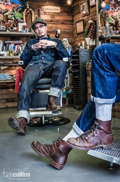Tim Collins Photography - Pappas Barber Shop I like the legs on the right, thought this was a neat crop.