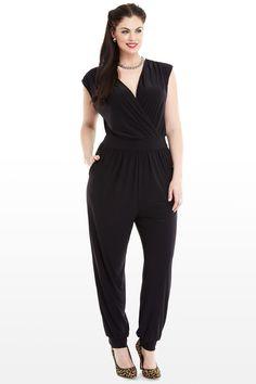 Street Smart Jumpsuit - Black Plus Size Jumpsuit Para quando eu perder uns 20 quilos