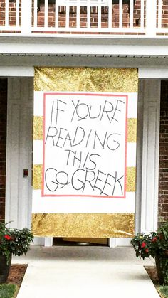 Sorority recruitment banner - Western Kentucky University Chi Omega