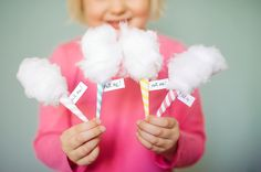 "DIY Mini Cotton ""Candy"" Invitations"