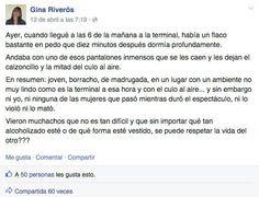 La mujer, de 55 años, la compartió en su Facebook. | Esta mujer compartió una reflexión sobre la violencia de género que se volvió viral