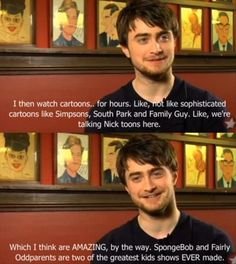 funny random pictures of harry potter | Funny Pictures – 62 Pics I love that he refers to SP, Simpsons and Family Guy as sophisticated