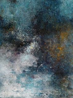 "Nocturne by Mary Mendla Acrylic/Mixed Media/Cold Wax ~ 14"" x 11"""