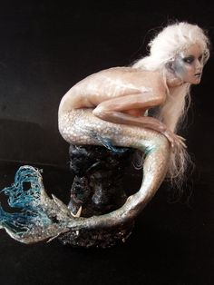 Fantasy mermaid sculpture
