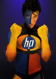 EVENTO HP- FASHION PRINT 2012 BODYPAINT | CuerpoGris - Cuerpos Pintados