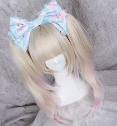 Wig Japanese Cosplay Hari Sweet Lolita Daily Gradient Princess Golden Mix Pink #Unbranded #FullWig