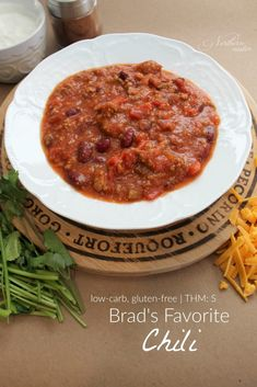 Brad's Favorite Chili | THM: S - Northern Nester