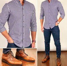 Check out these casual mens fashion Mens Fashion App, Mens Boots Fashion, Fashion Shirts, Stylish Mens Outfits, Casual Outfits, Business Casual Men, Men Casual, Office Casual Men, Gq Mens Style