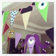 Disney Party Ideas: Monsters Inc. Monster Party, Monster Birthday Parties, 3rd Birthday Parties, Birthday Ideas, Happy Birthday B, Monster University Party, Monsters University, Monsters Inc Baby Shower, Just In Case