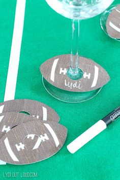 DIY Football Wine Charms - these are so fun for a party! #ad