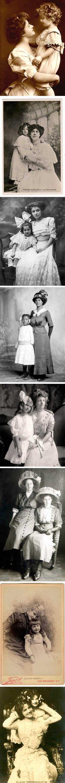 vintage mother and child portraits - Victorian Edwardian early century Vintage Pictures, Old Pictures, Vintage Images, Victorian Pictures, Vintage Love, Vintage Beauty, Vintage Ladies, Wedding Vintage, Decoupage Vintage
