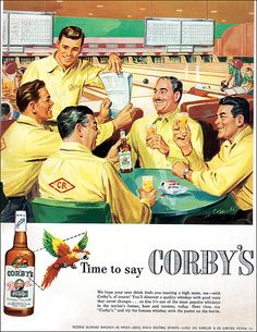 Why bowl sober when you can bowl with Corby's whiskey?