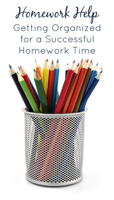 Homework Help-Tips for Getting Organized for a Successful Homework Time