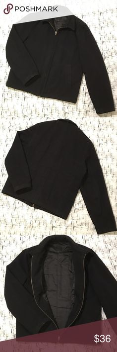 Mens Express Black Wool Blend Jacket Coat Medium Gently used however it has some little bit stains on the jacket . It need some cleaning. Express Jackets & Coats